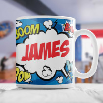 Personalised Comic Book Boom Mug