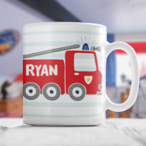 Personalised Fire Engine Mug