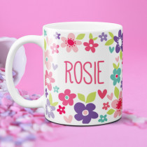 Personalised Beautiful Colourful Flowers Mug