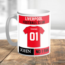 Personalised Liverpool Football Club Mug