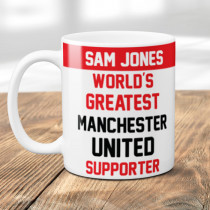 Personalised Manchester United Football Supporter Mug