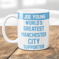 Personalised Manchester City Football Supporter Mug