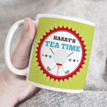 Personalised Golf Tea Time Mug