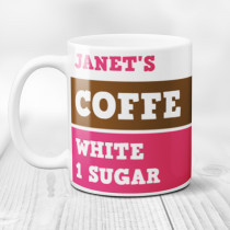 Personalised Coffee/Tea Pink Mug