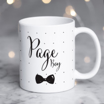 Personalised Page Boy Wedding Mug