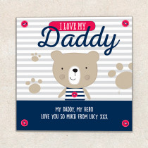 Fathers Day personalised Daddy card