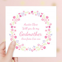 Personalised Godmother - Luxury Greeting Card