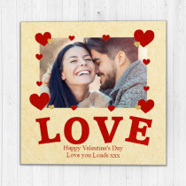 Personalised Love Photo Card - Luxury Fabric Card