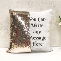 Personalised Any Message Reversible Sequin Cushion