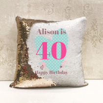 Personalised Age - Magic Sequin Cushion