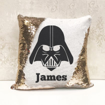 Personalised Darth Vader Star Wars Reversible Sequin Cushion