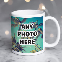 Personalised One Photo Ceramic Mug With Text