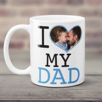 Personalised I Love My Dad Photo Mug