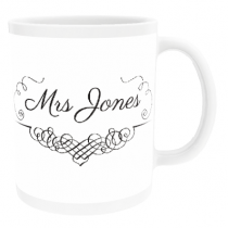 Personalised Mrs Swirl Design - Mug