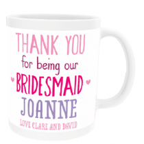 Personalised Bridesmaid Wedding Gift - Mug