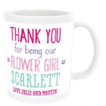 Personalised Flower Girl Wedding Gift - Mug