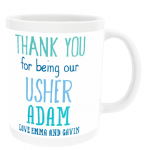 Personalised Usher Wedding Gift - Mug