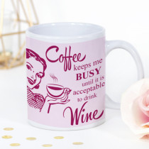 Personalised Coffee Keeps Me Busy Mug