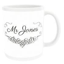 Personalised Mr Swirl Design - Mug