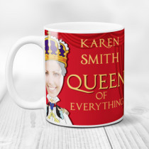 Personalised The Queen Spoof Photo Mug