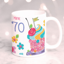 Personalised Itsy Bitsy Birthday Cupcake Mug