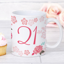 Personalised Blush Boutique Wine Glass Birthday Mug