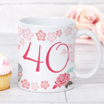 Personalised Blush Boutique Birthday Cupcake Mug