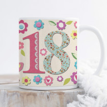 Personalised 18th Birthday Fabrique Mug