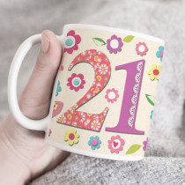 Personalised Fabrique 21st Birthday Mug