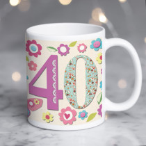 Personalised Fabrique 40th Birthday Mug