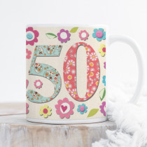 Personalised Fabrique 50th Birthday Mug