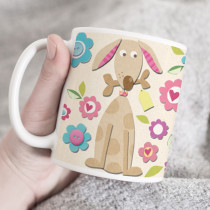Personalised Cute Dog Fabrique Mug