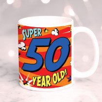 Personalised 50th Birthday Comic Book Mug