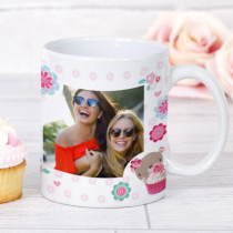 Personalised Bobbin Valley Flowers Photo Mug