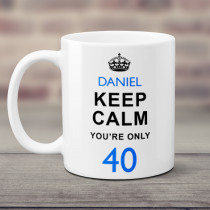 Personalised Keep Calm Age Mug