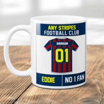 Personalised Choose Your Football Team Stripes Mug