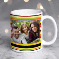 Style Stripes with Photo Upload - Mug