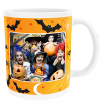 Personalised Happy Halloween Bats and Spiders with Photo Upload - Mug