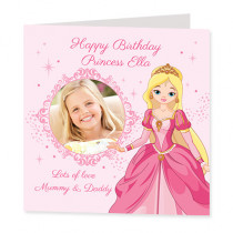 Princess Style with Photo Upload - Luxury Greeting Card