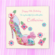 Personalised Fabrique Heels - Luxury Fabric Card
