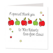 Teacher's Apples - Luxury Greeting Card