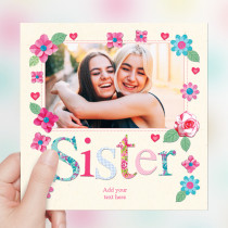 Personalised Fabrique Sister Luxury Fabric Photo Card