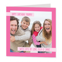 Star Seller - Simple Pink Banners - Luxury Greeting Card - Photo Upload