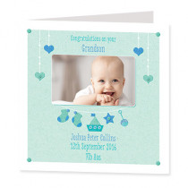 Infant Boy with Photo Upload - Luxury Greeting Card