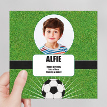 Personalised Football Luxury Fabric Photo Card
