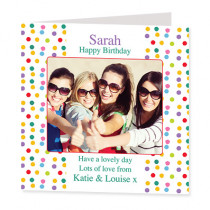 Happy Dots with Photo Upload - Luxury Greeting Card
