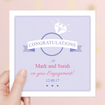 Personalised Ring Congratulations Luxury Fabric Card