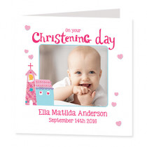 Itsy Bitsy Girl Christening - Luxury Greeting Card
