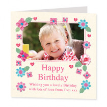 Fabrique Birthday with Photo Upload - Luxury Greeting Card