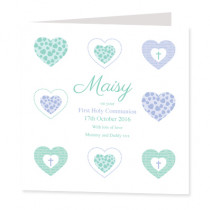 Heart Communion or Christening Design - Luxury Greeting Card